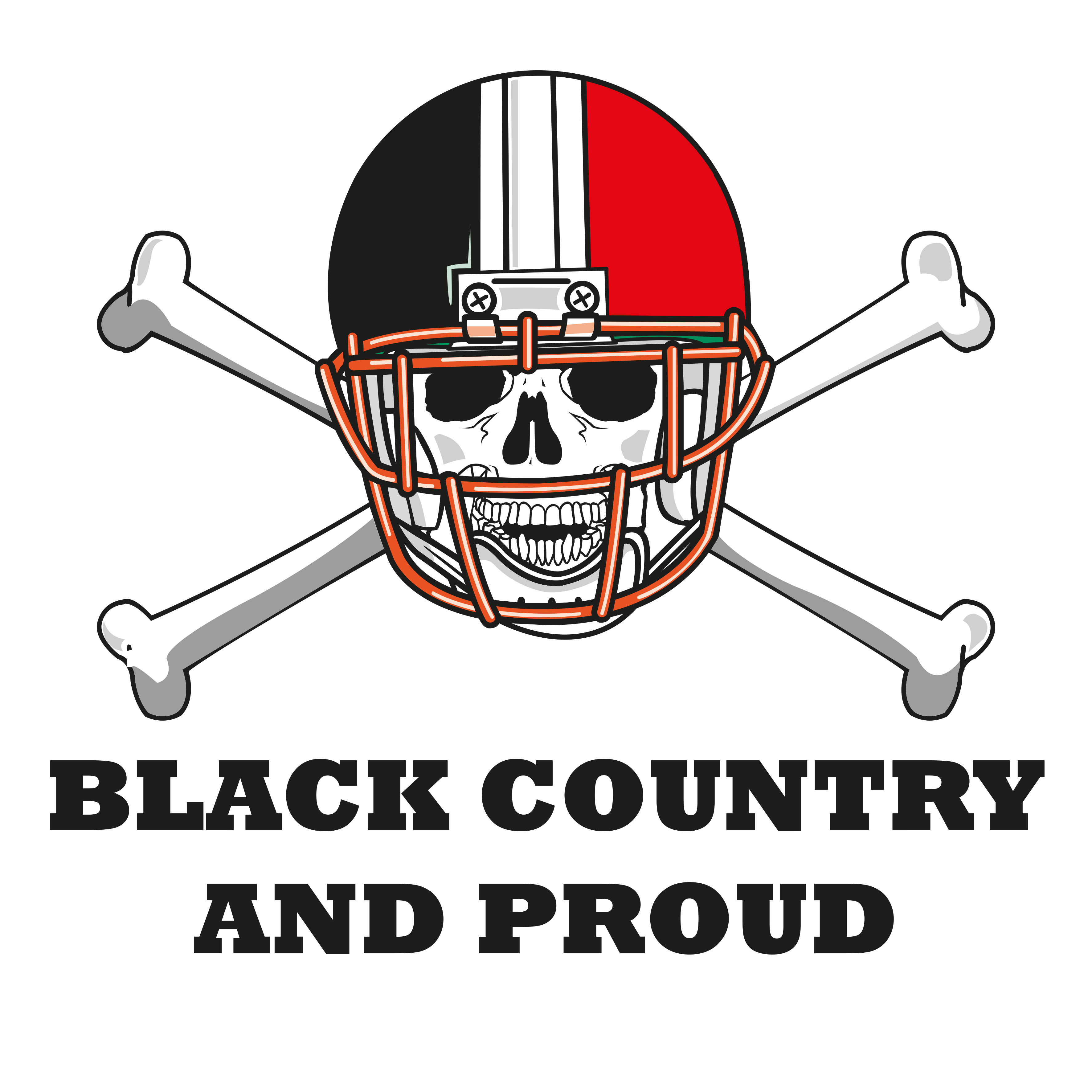 BLC001 - Skull Helmet Black Country And Proud