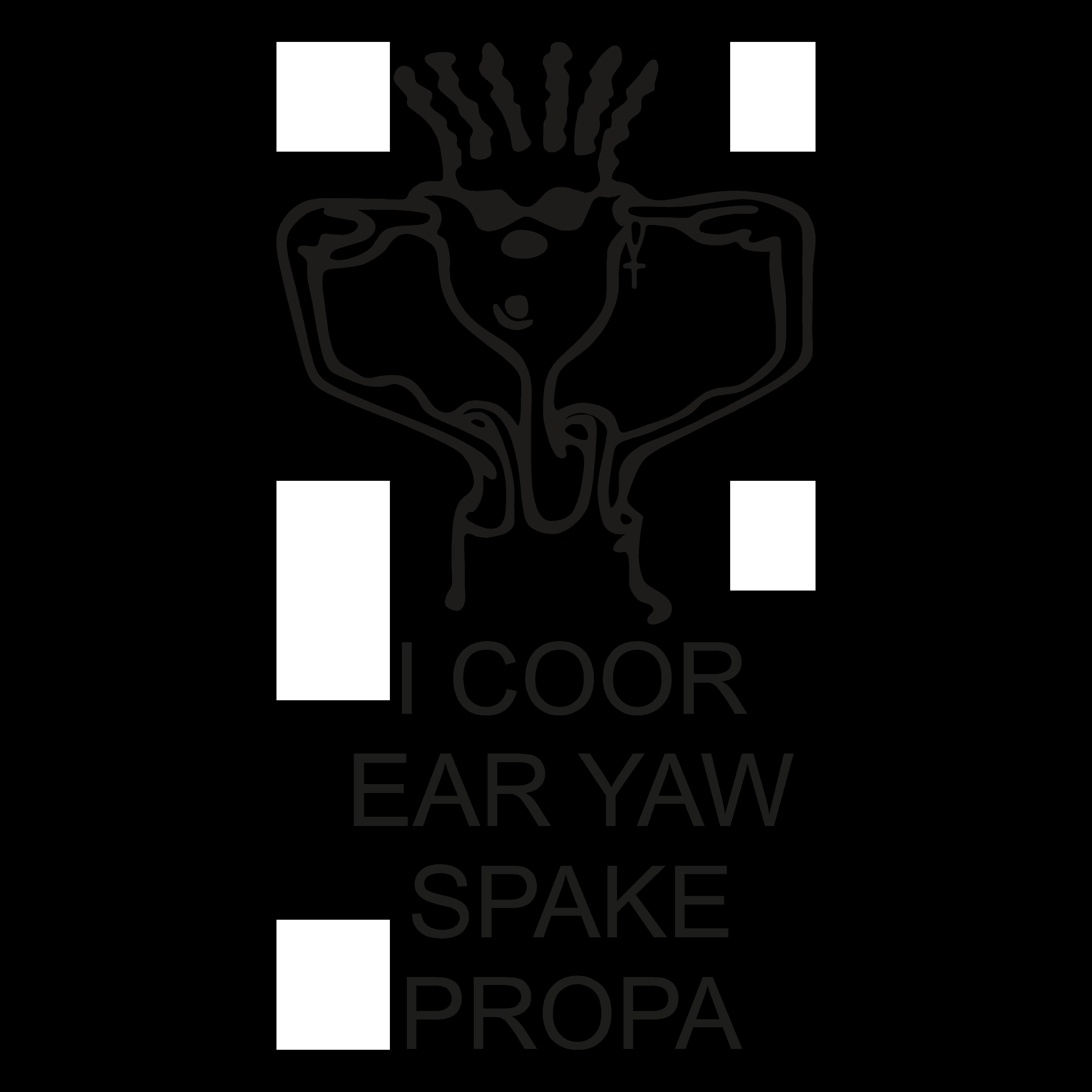 BLC004 - I Coor Ear Yaw Spake Propa